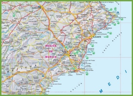 Map Of Spain Murcia.Region Of Murcia Maps Spain Maps Of Region Of Murcia