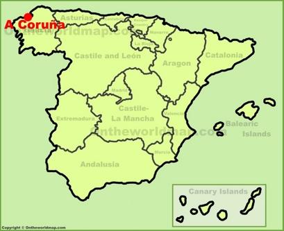 A Coruña Location Map