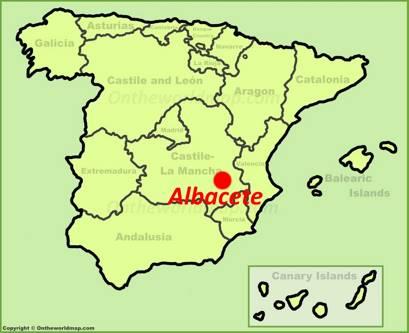 Albacete Location Map