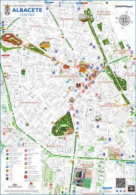 Albacete Tourist Map