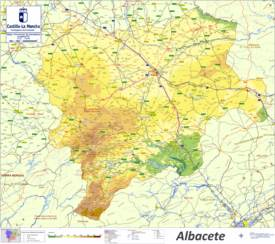 Large Detailed Map of Province of Albacete