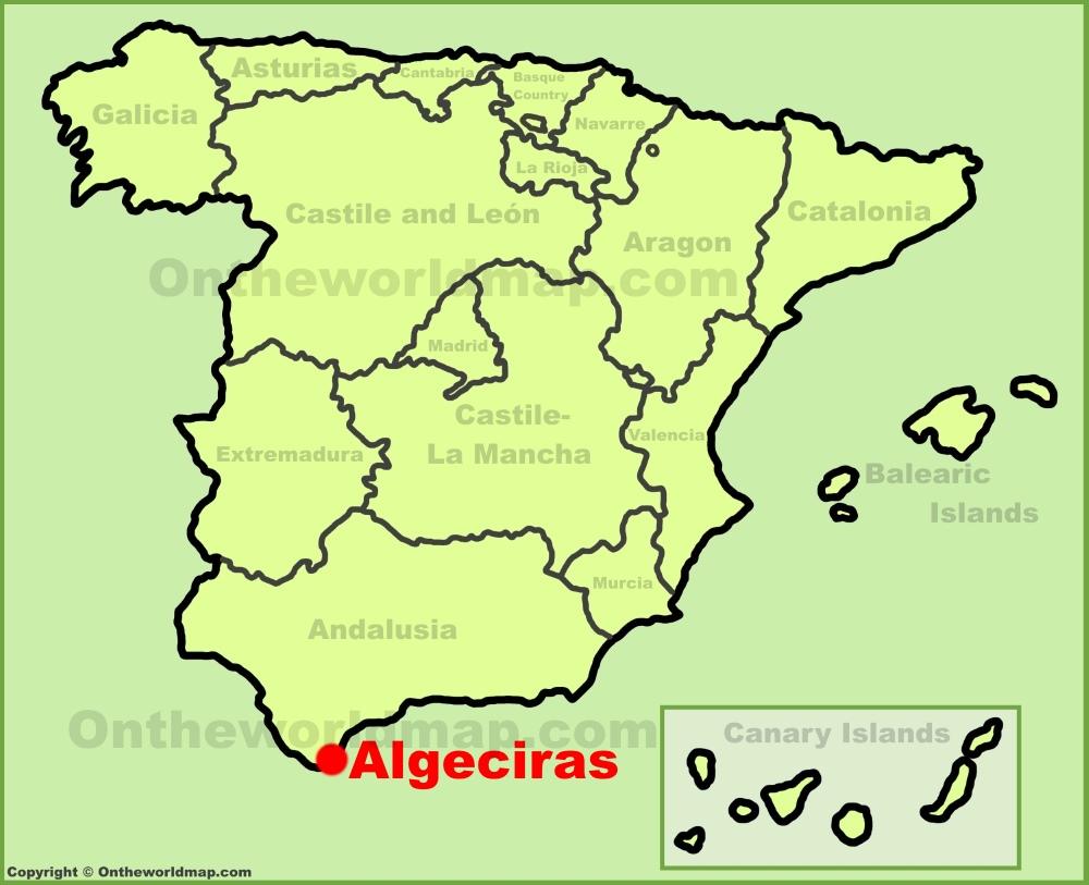 Algeciras location on the Spain map