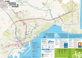 Alicante bike map