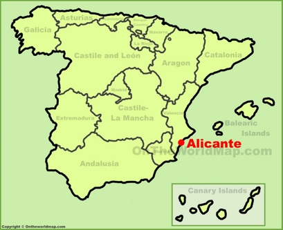 Alicante Location Map