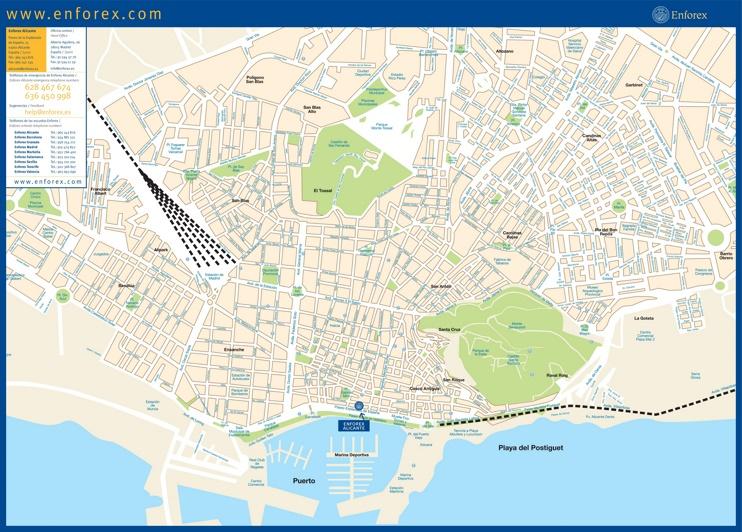Alicante calle mapa
