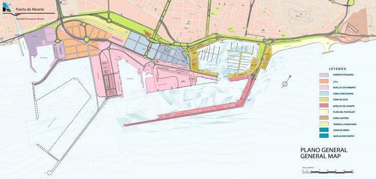 Mapa de Puerto de Alicante