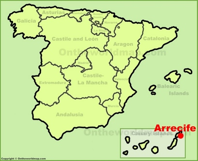 Arrecife Location Map