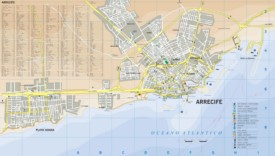 Arrecife tourist map