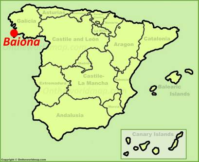 Baiona Location Map