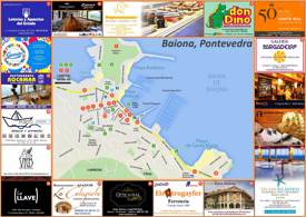 Baiona Tourist Map