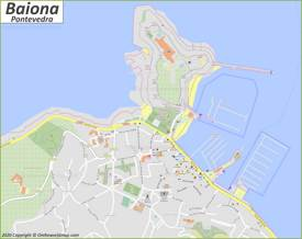 Detailed Map of Baiona