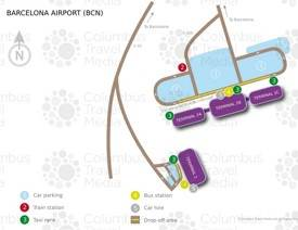 Barcelona airport map