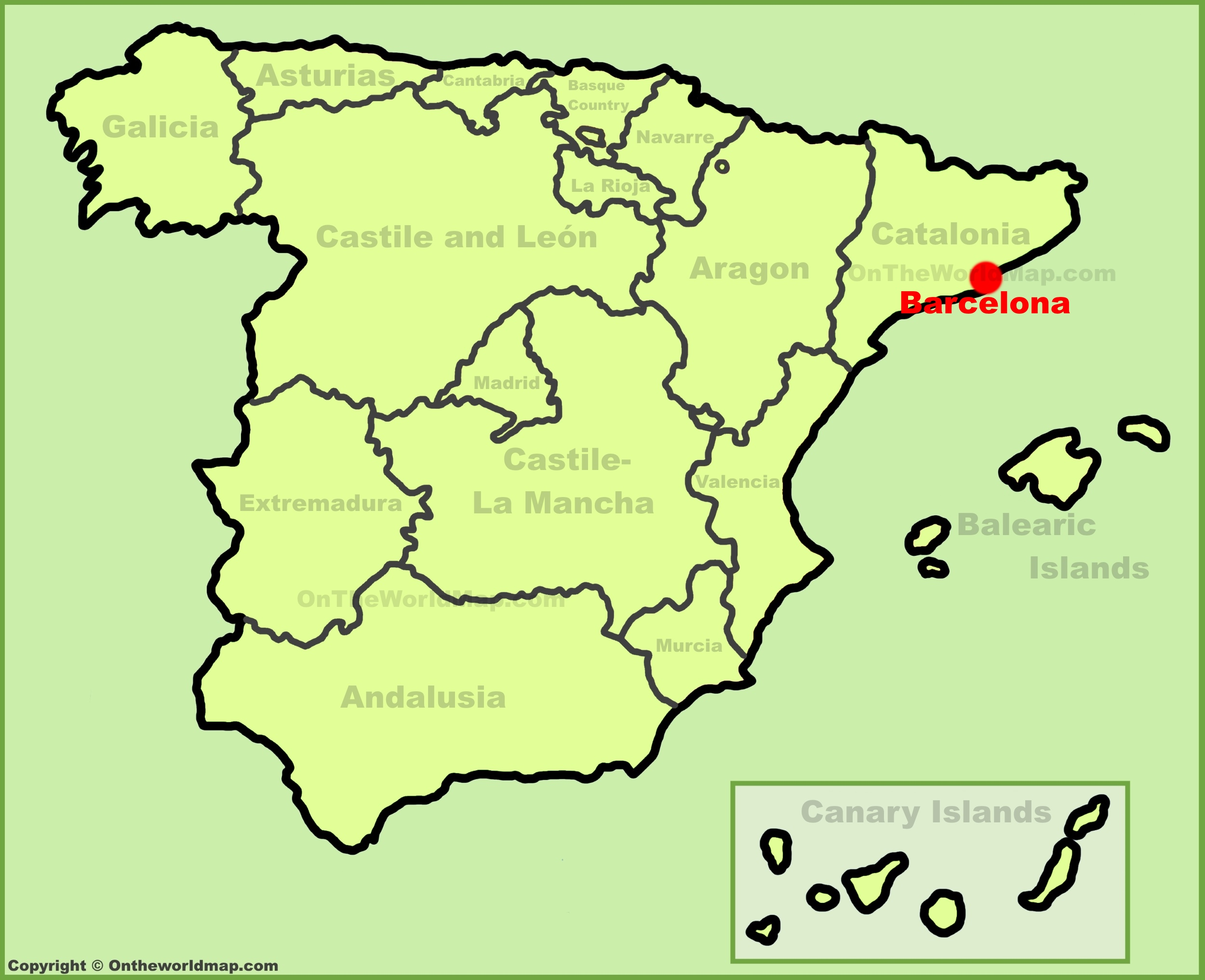 Map Of Spain With Barcelona.Barcelona Maps Spain Maps Of Barcelona City