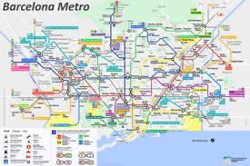Barcelona Mapa Espana Mapas De Barcelona