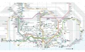 Barcelona rail map