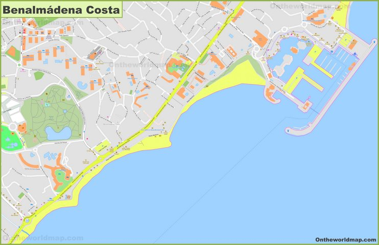 Benalmádena Costa Map