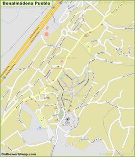 Benalmádena Pueblo Map