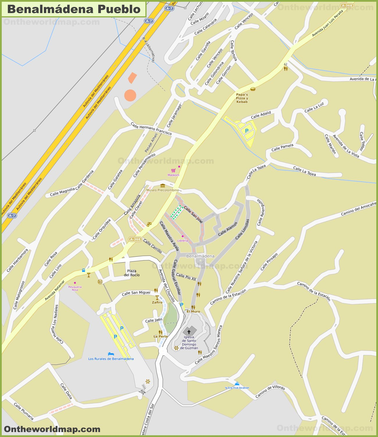 Benalmadena Pueblo Map
