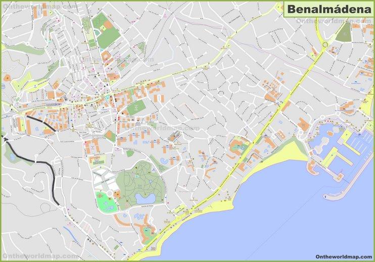 Detailed map of Benalmadena
