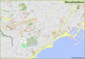 Detailed map of Benalmadena