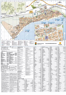 Benicàssim hotels and sightseeings map