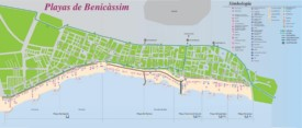 Benicàssim tourist map