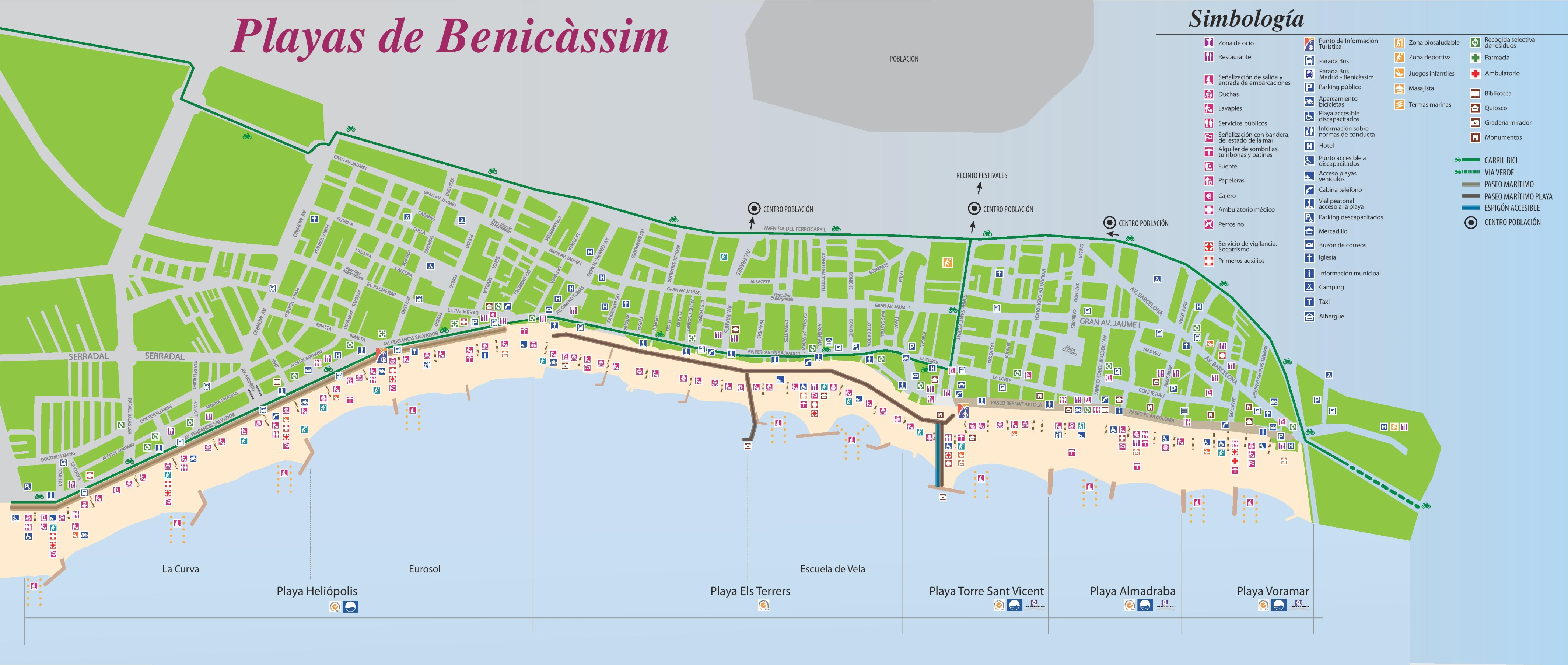 Benicssim tourist map