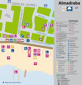 Playa Almadraba map