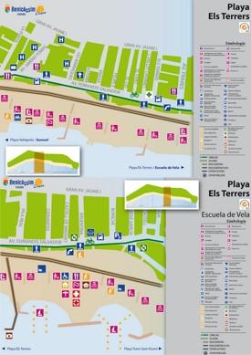 Playa Els Terrers map