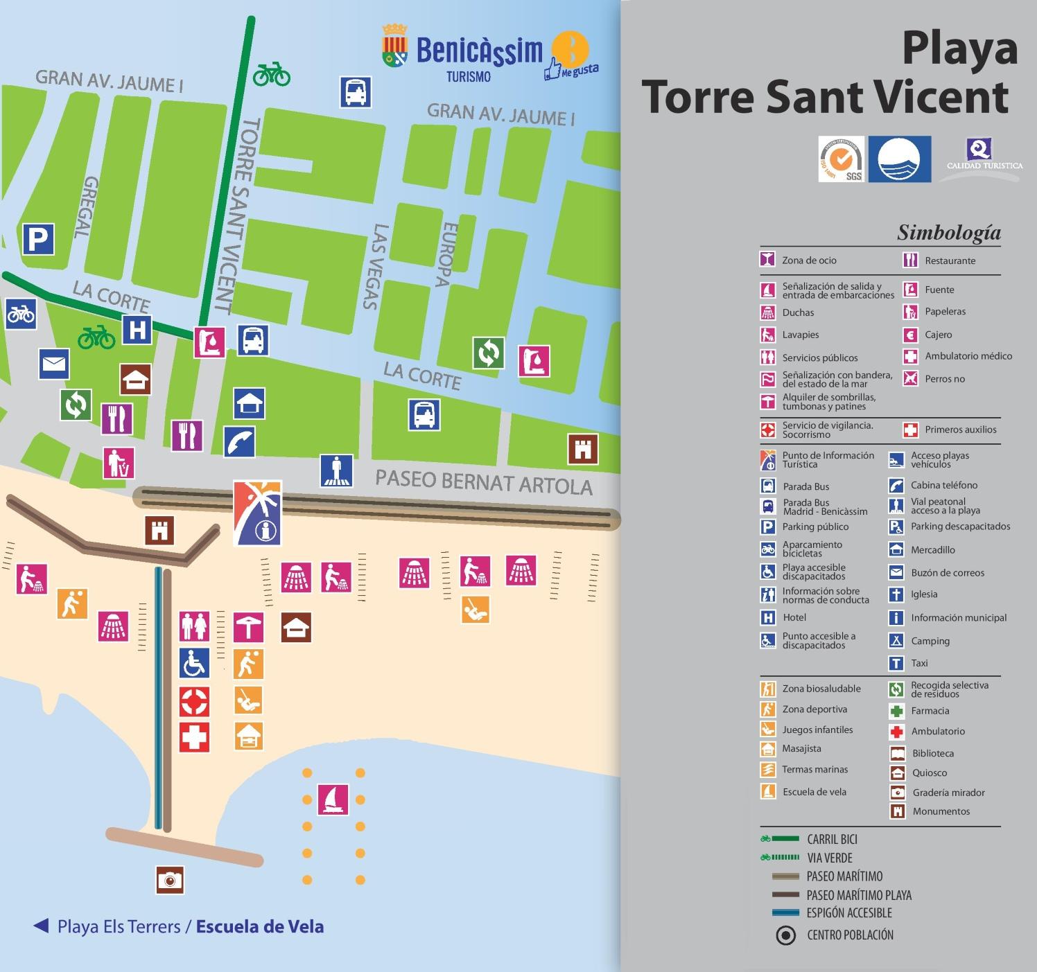 Playa Torre Sant Vicent map