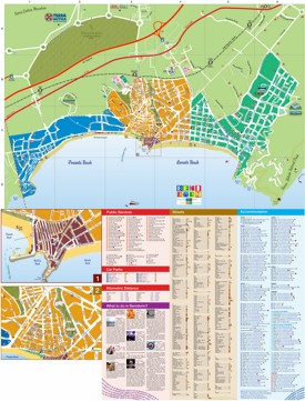 Benidorm hotels and sightseeings map