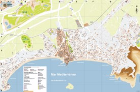 Benidorm tourist map