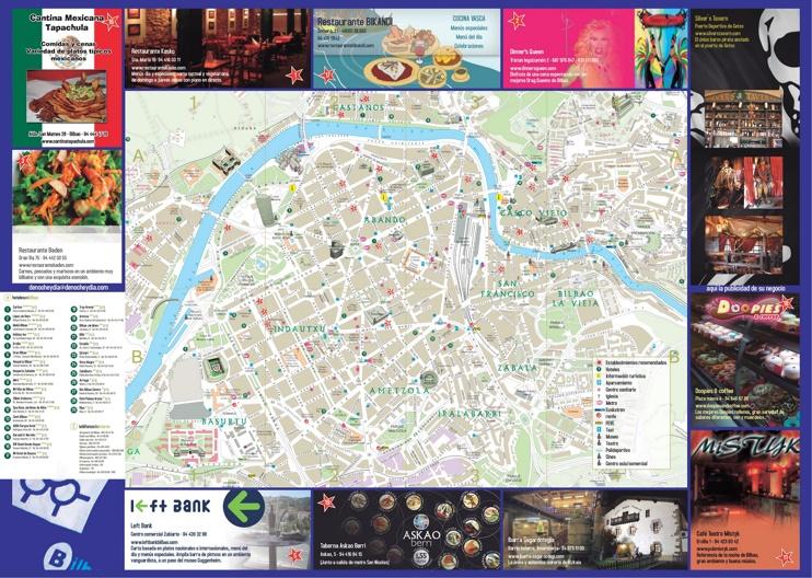 Bilbao hotel map