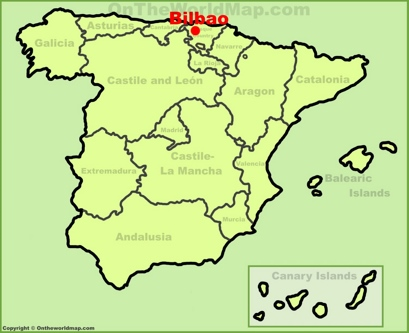 Bilbao Location Map