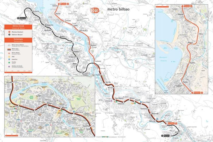 Bilbao metro map