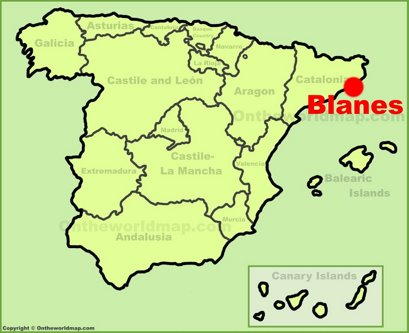 Blanes Location Map