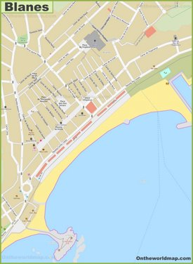 Blanes Town Center Map