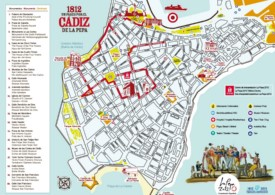 Cádiz sightseeing map