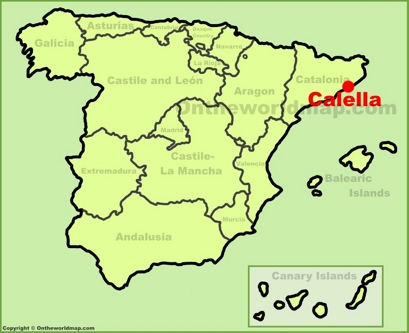 Calella Location Map