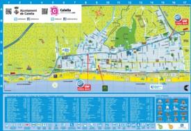 Calella tourist map