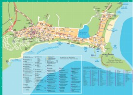 Calp hotels and sightseeings map