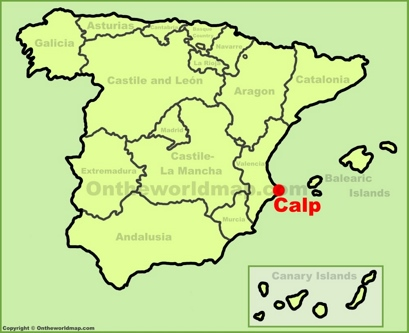 Calp Location Map