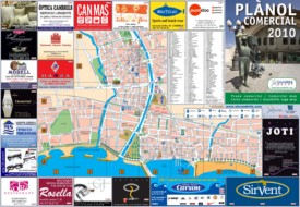 Cambrils city center map