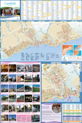 Large detailed tourist map of Cambrils