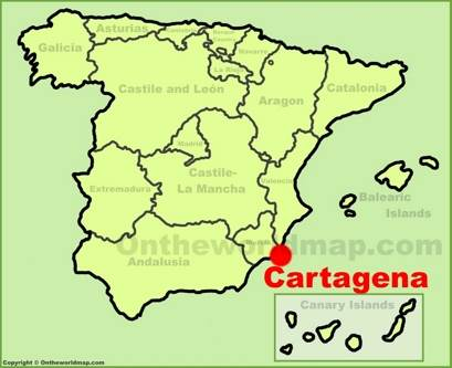 Cartagena Location Map