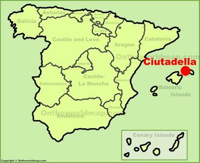 Ciutadella de Menorca Location Map