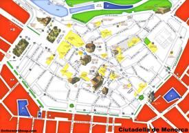 Ciutadella de Menorca Tourist Attractions Map