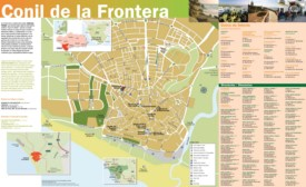 Conil de la Frontera tourist map