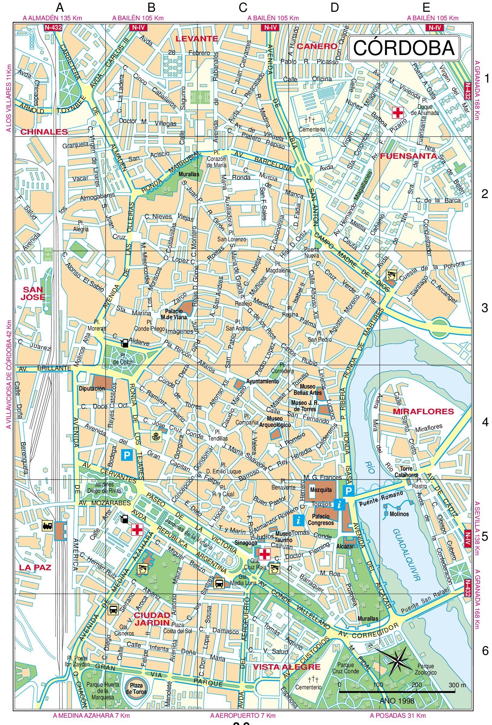 Cordoba Maps Spain – Tourist Map Of Cordoba Spain