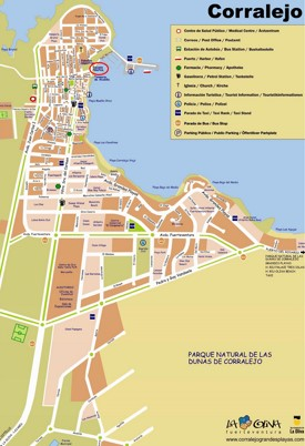 Corralejo tourist map